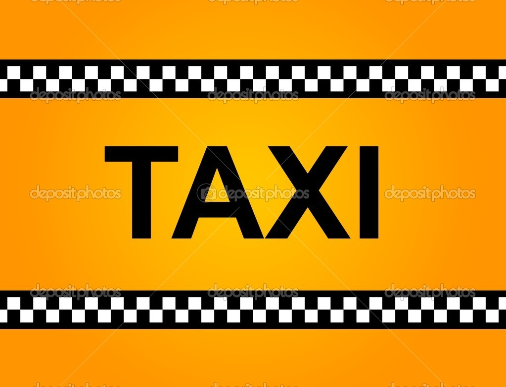 taxi sign stock photo hlehnerer 6672422. Black Bedroom Furniture Sets. Home Design Ideas