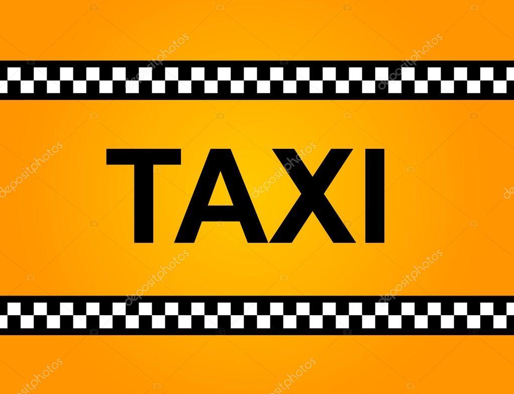 taxi sign stock photo hlehnerer 6672422. Black Bedroom Furniture Sets. Home Design Ideas