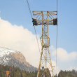 Aerial lift in Alps — Stock Photo