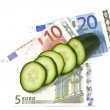 Costly cucumbers — Stock Photo