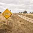Road sign - Grid — Stock Photo