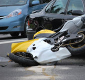 Accidente de moto. — Foto de Stock