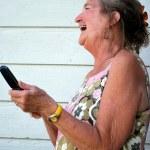 Cellphone conversation. — Stock Photo