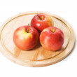 Red apple isolated on the white background — Stock Photo