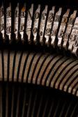 Antiguo texto escribir escribir carta typebar — Foto de Stock