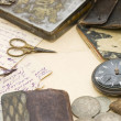 Old letters and pen as background — Stock Photo #5438810