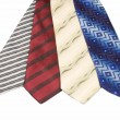 Set of Luxury ties on white — Foto Stock