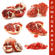 Pomegranate isolated on white background — Stockfoto