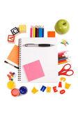 铅笔和苹果-概念学校 — 图库照片