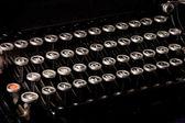 Vieja máquina de escribir, texto fecha límite — Foto de Stock