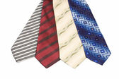 Set of Luxury ties on white — Stock Photo