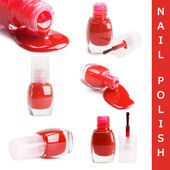 Red nail polish isolated on a white background — Stockfoto