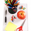 Pencils and apple - concept school — Stock Photo #5536166