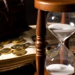 The hourglass and the book — Stock Photo #5538247