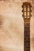 Um cabeçote de guitarras, incluindo tuning pegs — Foto Stock