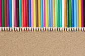 Colour pencils on — Stock Photo