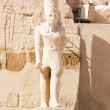 Statues in the ancient temple. Luxor - Stock Photo