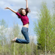 Stock Photo: The jumping girl