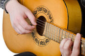 The man plays an acoustic guitar — Stock Photo