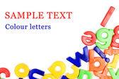Plastica inglese lettere isolate su bianco — Foto Stock