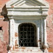 Fragment of ornament of facade of old chapel — Stock Photo