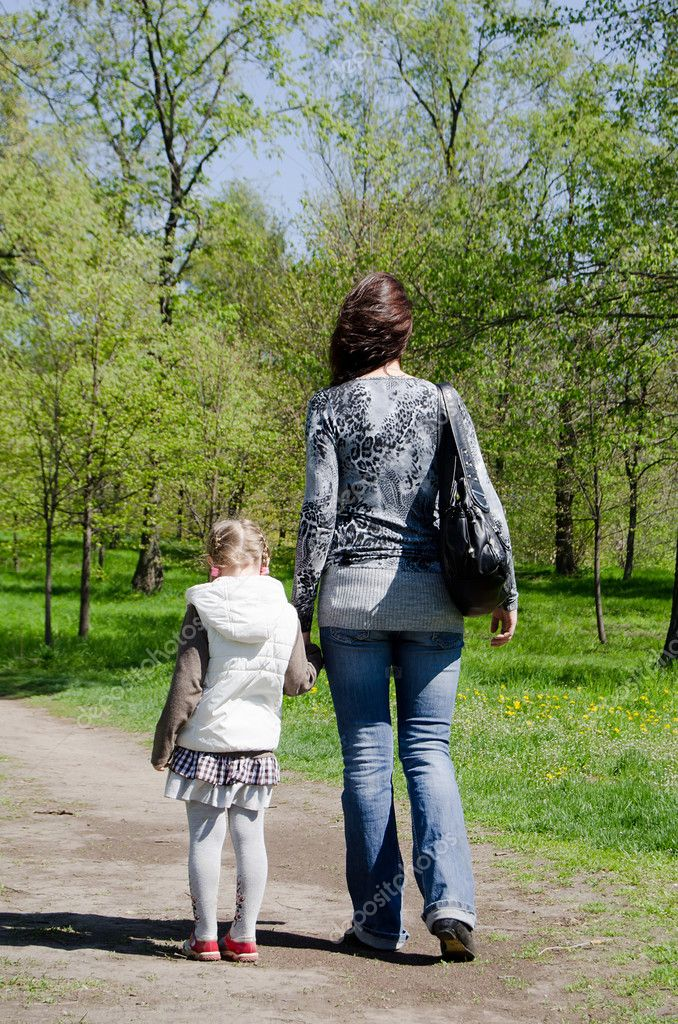 Mum with a daughter rest in park  Stock Photo #5663660