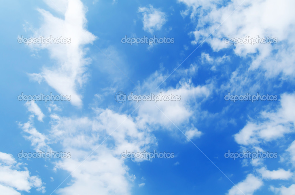 The beautiful blue sky with white clouds — Stock Photo #5761661