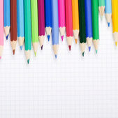 Počet barevných tužek — Stock fotografie