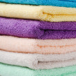 The combined colour towels - Stock Photo