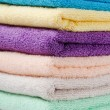 Royalty-Free Stock Photo: The combined colour towels