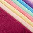 The combined colour towels — Stok fotoğraf