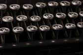 Old typewriter, deadline text — Stock Photo