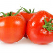 Red tomato isolated on white background - Stockfoto