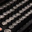 Old typewriter, deadline text — Stock Photo