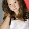 Portrait of the young beautiful girl — Stock Photo
