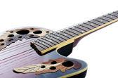 Guitarra elétrica isolada em um branco — Fotografia Stock