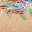 Close-up of multi-colored paper clips - Stock Photo