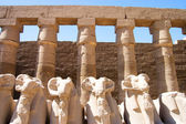 Columns at Karnak Temple, Luxor, Egypt — Stockfoto
