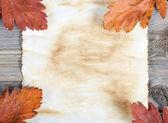 Старая бумага на деревянные поверхности — Стоковое фото