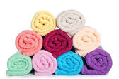 The combined color towels — Stok fotoğraf