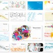 Business cards on different topics - Vettoriali Stock