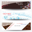 Stock Vector: Set abstract stylish banner