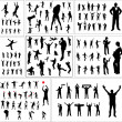 Big collection silhouettes - Stock Vector