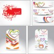 Set love headers — Stock Vector