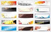 Nastavit abstraktní stylový banner — Stock vektor