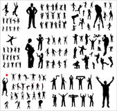 Big collection silhouettes — Stock Vector