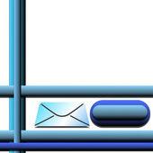 3d e-mail-kommunikation — Stockfoto