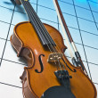 Royalty-Free Stock Photo: Violin on blue