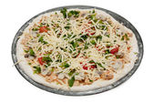 Uncooked vegetarian pizza — Stock Photo