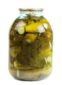 Jar of pickles — Stock Photo